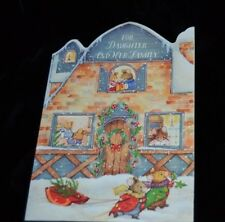 Vtg Unused MARY HAMILTON Christmas Greeting Card MICE MOUSE Daughter & Family