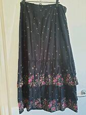 Ladies Tiered Full Length Skirt medium