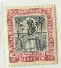 Barbados Stamps 108 SG 151 1 S Red & Black Nelson MHR F/VF 1906 SCV