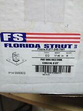 FLORIDA STRUT POST BASE 4 HOLE SINGLE CHANNEL