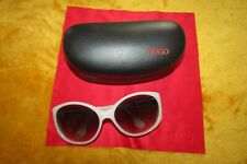 Lovely Rare HUGO BOSS Oversized Sunglasses White VGC