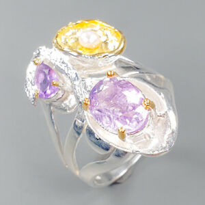 Fine Art Amethyst Ring Silver 925 Sterling  Size 9 /R152859