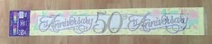 BNIP New Party Banner - 50th Anniversary - 2.6m Long - 3 x 87.5cm Sections