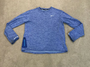 Mens NIKE Running Dri-Fit Long Sleeve Top Blue Size Large- GOOD CONDITION