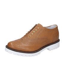 scarpe donna OLGA RUBINI 36 EU classiche marrone pelle BY366-B