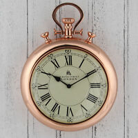 Copper Stopwatch 'Bond Street' Wall Clock High Quality & Unique 43cm