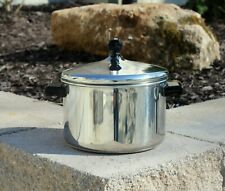 FARBERWARE 18/10 STAINLESS STEEL 4 QT. STOCK POT & LID IMPACT BONDED