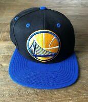 Golden State Warriors Basketball NBA Mitchell & Ness Adjustable Fit Cap Hat EUC