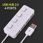 Hot Sale Micro 4 Ports Mini 2.0 Hub USB High Speed USB Splitter On/Off Switch