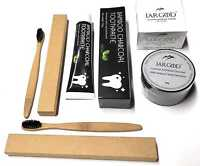 JARGOD CHARCOAL TEETH WHITENING POWDER + Toothpaste + 2 Toothbrush 3 in 1