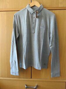 """Simon + Simon Long Sleeve Richmond Polo - Size XL (42"""") - Grey - NEW - RRP £60"""