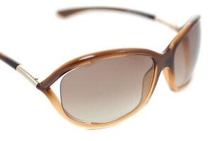 Tom Ford Jennifer TF8 50F Damen Schmetterling Sonnenbrille Brown Getönt Gradient