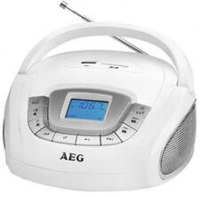 AEG Stereo USB Radio weiß weiss SD Karte Wecker Alarmfunktion AUX in USB Slot
