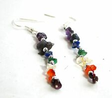 * vente * Reiki Energy Charged Sept Chakra Cristaux Boucles d'oreilles Natural Healing Cadeau