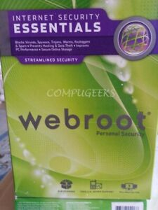 Webroot SecureAnywhere Security Essentials 2021 | 3YRS 5 PC/MAC DOWNLOAD