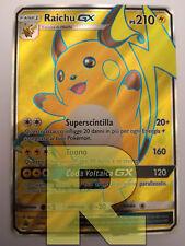 Raichu GX ® Promo SM90 ® Rara Full Art ® Pokemon ® Italiano