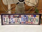 "Lets Go Brandon bumper sticker #FJB license plates Measures 10""x 3"" TRUMP BIDEN"