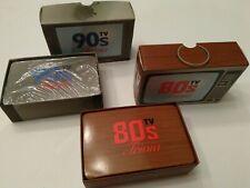 80s 90s tv trivia cards - 2 sets -  90's set new & sealed- 80's set used