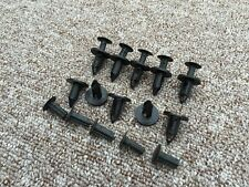 ISUZU BLACK Plastic Rivet Push Type Trim Bumper Panel Clips 10PCS