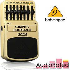 More details for behringer eq700 graphic equaliser pedal 7 band for guitar and keyboard ge-7 amp