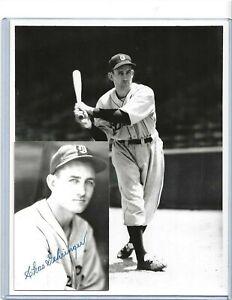 Charlie Gehringer Detroit Tigers Baseball Autographed Postcard Photo & Brace Pic