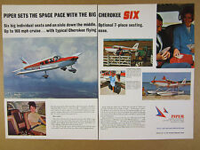 1968 Piper Cherokee SIX airplane 6x color photo vintage print Ad