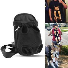 Pet Puppy Dog Cat Mesh Sling Carry Pack Backpack Carrier Travel Bag Front Soft