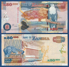 SAMBIA / ZAMBIA 50.000 Kwacha 2012  UNC  P. 48 h