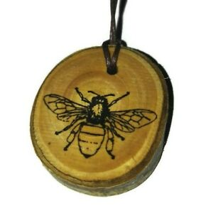 WORKER BEE BABY POWDER  Oil Scented wooden  charm Home Car Air Freshener gift