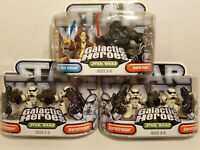 Star Wars Galactic Heroes Darth Vader, Obi Wan and StormTroopers Playskool 2011