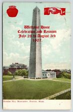 Boston MA~Bean Pot Welcome Home Celebration~Bunker Hill Monument~July 28 1907