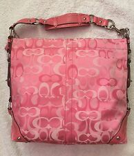 Pretty In PINK EXTRA Large COACH Carly Optic Signature handbag Coach 13981