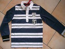 (C176) RARE-The Kid Boys Langarm Shirt Polohemd mit Auto Druck & Aufnäher gr.128