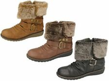 Spot On Zip Wedge Synthetic Shoes for Women