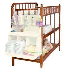 Waterproof Baby Crib Nursery Toys Diapers Organizer Storage Bag Bed Hanging Bags