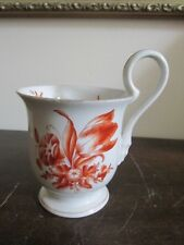 Herend Hungary Hand Painted Mug Cup Orange Flowers From 1942