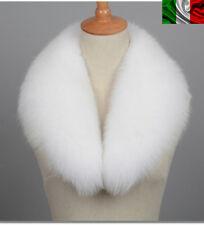COLLO PELLICCIA di VOLPE BIANCO FOURRURE de RENARD silver FOX LIGHT WHITE