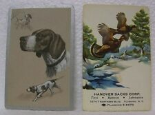 6 OLD DOG SWAP PLAYING CARDS COCKER SPANIEL BIRDS HUNTING HANOVER SACKS PUPPY