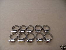 WORM DRIVE HOSE CLAMPS Pack of 10  STAINLESS STEEL 19mm to 27mm Made in Taiwan