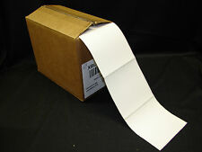 """4"""" x 4"""" Freezer Adhesive Thermal Printer Perforated Labels Fanfold (Qty-2000)"""