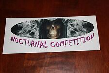 NOCTURNAL COMPETITION Drag Racing Decal toolbox window grim reaper  7.5 x 3 in