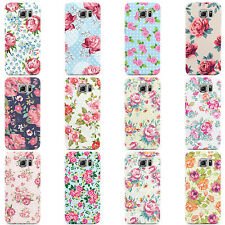 SHABBY CHIC FLORAL FLOWERS HARD CASE COVER FOR SAMSUNG GALAXY MOBILE PHONES