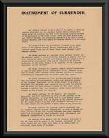 WWII Japan Instrument of Surrender Reprint On Original Period Paper *P211