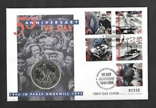 1995 Guernsey Liberation Anniversary £2 coin on VE Day PNC cover.