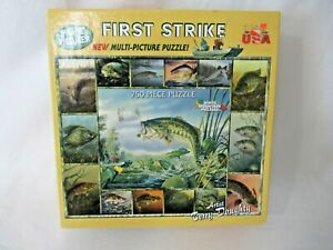 White Mountain First Strike Multi Picture Fishing 750pc Puzzle New Sealed
