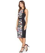 New Ted Baker Kensington black floral design dress TB2 UK10 RRP €220