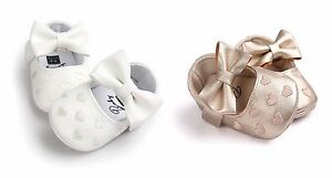 Baby Girl Romirus First Walker Moccasin Shoes with Bow Knot fit 0-18M
