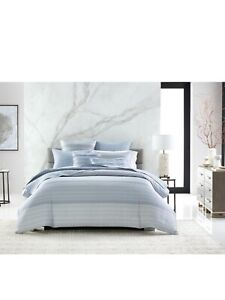 Hotel Collection Parallel Full/Queen Comforter Color Blue/Gray