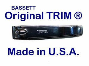 Trim Brand Toenail Nail Clipper with File ~ #95 ~ MADE in USA ~ Brand New!