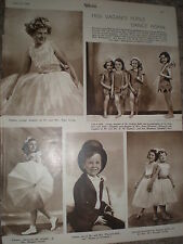 Photo article children for Miss Vacani annual dancing matinee 1948 rf K